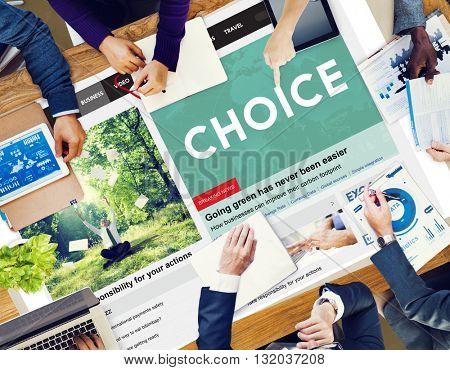 Choice Choosing Decision Selection Concept