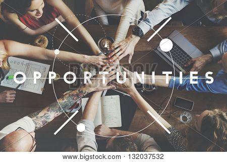Power Opportunities Make It Happen Concept