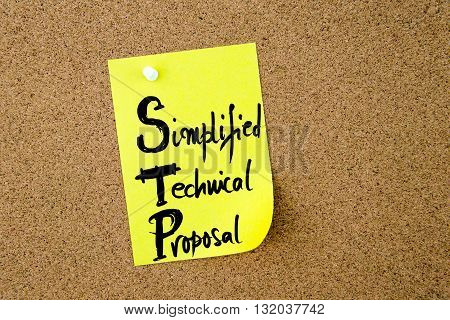 Business Acronym Stp Simplified Technical Proposal