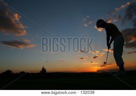 Silhueta golfista