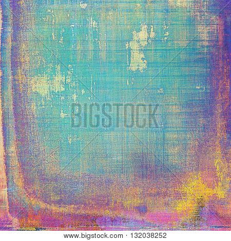 Old-style dirty background with textured vintage elements and different color patterns: yellow (beige); green; blue; red (orange); purple (violet); pink