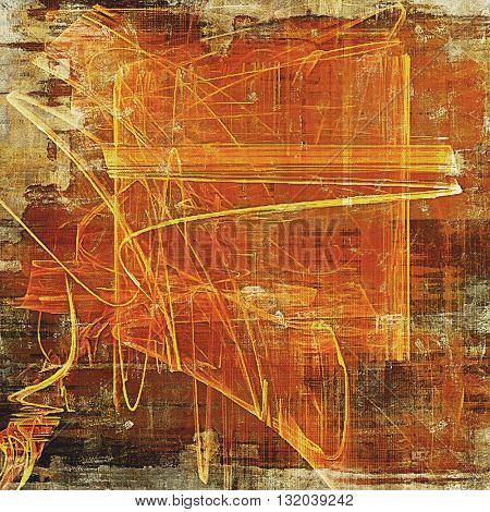 Art grunge background or vintage style texture with retro graphic elements and different color patterns: yellow (beige); brown; red (orange); gray; pink