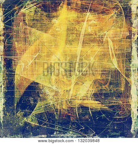 Grunge background for a creative vintage style poster. With different color patterns: yellow (beige); brown; green; blue; red (orange); gray