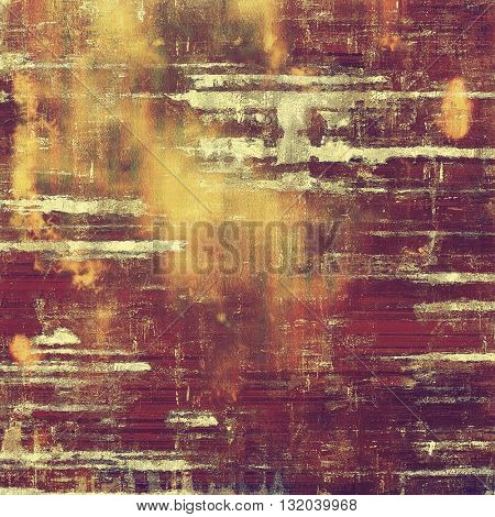 Mottled vintage background with grunge texture and different color patterns: yellow (beige); brown; red (orange); gray; purple (violet); pink