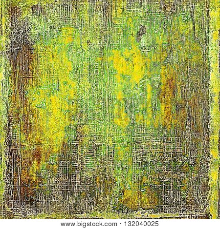 Grunge background for your design, aged shabby texture with different color patterns: yellow (beige); brown; green; red (orange); gray