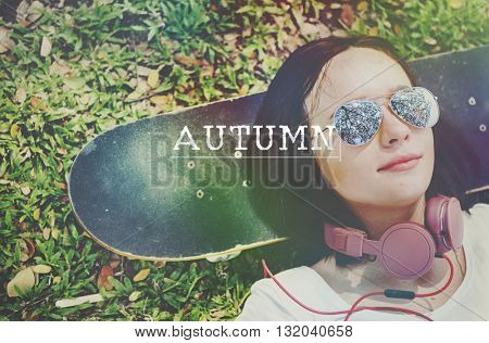 Autumn Season Change Fresh Plant Seasonal Concept