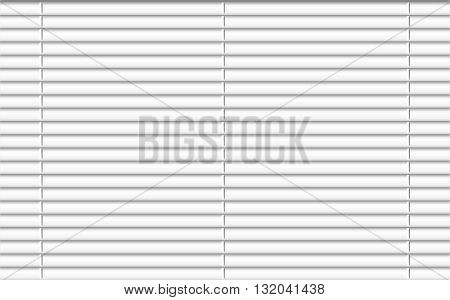 Window blinds. Window shutters. Window shades. Office or home window decoration element. Vector illustration.