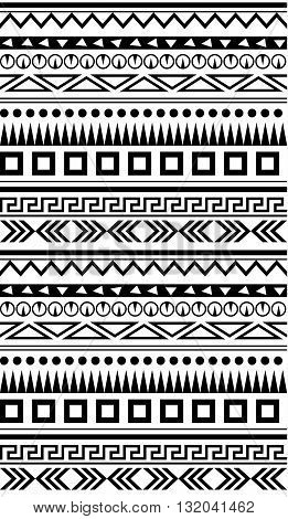 Seamless ethnic geometric pattern for textile fabrics or other. Seamless background. Ethnic vector Background. Ethnic simple illustration.