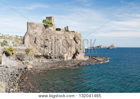 The norman castle of Acicastello, in Sicily