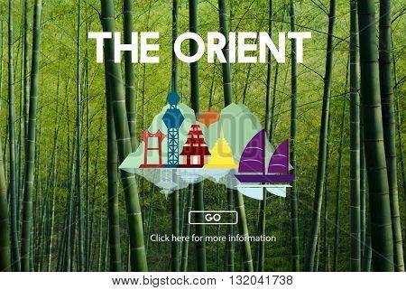 Orient Culture Famous Landmark East Tourism Concept