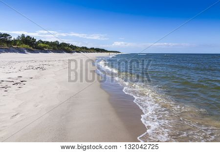 Sandy Beach On Hel Peninsula, Baltic Sea, Poland