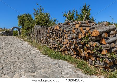 Pile Of Firewood Arch