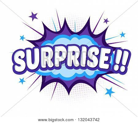 Vector stock of comic explosion bang and boom surprise word