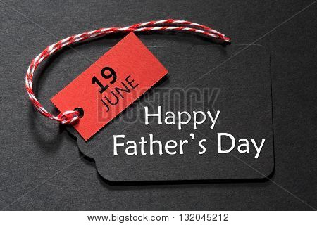 Happy Father's Day Text On A Black Tag
