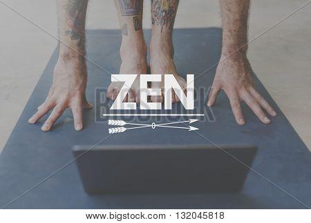 Yoga Transformation Strength Zen Balance Concept