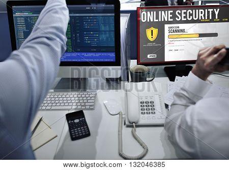 Online Security Firewall Upload Concept
