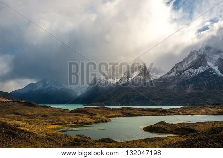 The Torres Del Paine National Park In The South Of Chile Is One Of The Most Beautiful Mountain Range