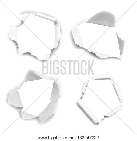 Hole paper , torn paper ,Piece of torn paper, Ripped paper, space for copy