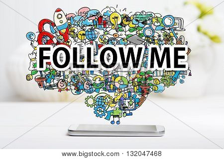 Follow Me Concept With Smartphone