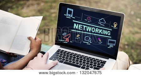 Networking System Social Network Connection Concept