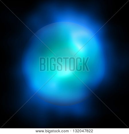 Abstract Nebula Gas Ball Sphere Dark Background