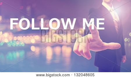Follow Me Concept With Businessman