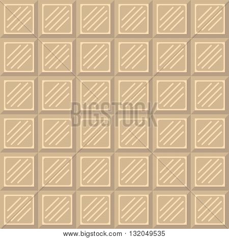 Chocolate bar seamless pattern. White chocolate square tiles texture.