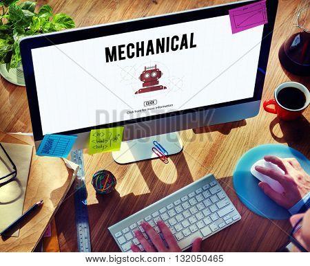 Mechanical Engineering Engine Industrial Machine Concept