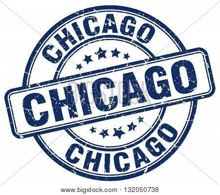 Chicago blue grunge round vintage rubber stamp.Chicago stamp.Chicago round stamp.Chicago grunge stamp.Chicago.Chicago vintage stamp.