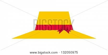 Yellow hat vector illustration.