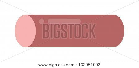 Sausage isolated vector.