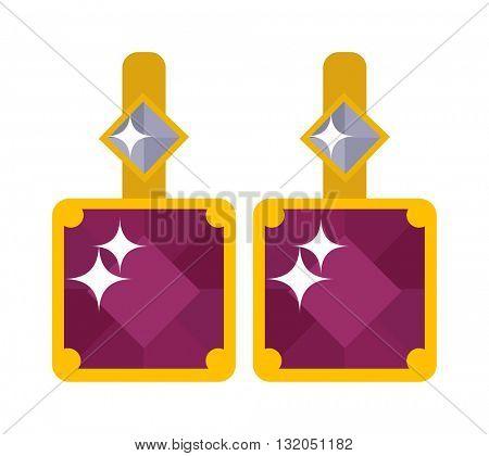 Crystal shiny gold accessory brooch