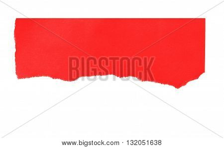 rip red paper and white background with space for text