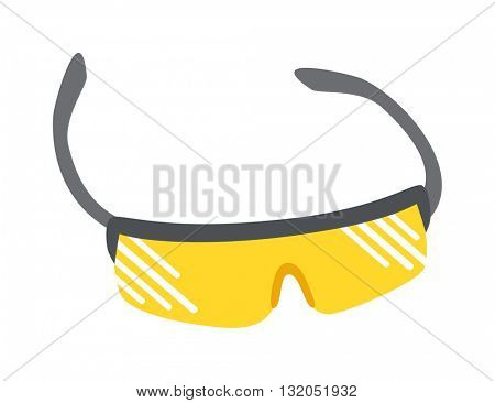 Sport glasses vector illustration.