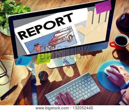 Report Presentation Information Research News Concept