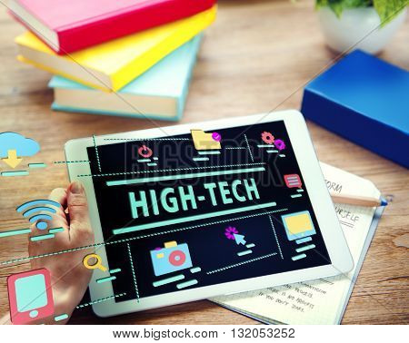 Internet High-Tech Digital Icon Graphic Concept