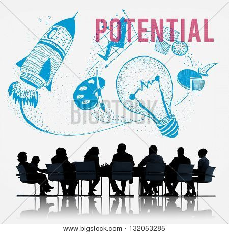 Potential Ideas Creativity Imagination Light Bulb Concept
