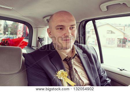 Groom in the car