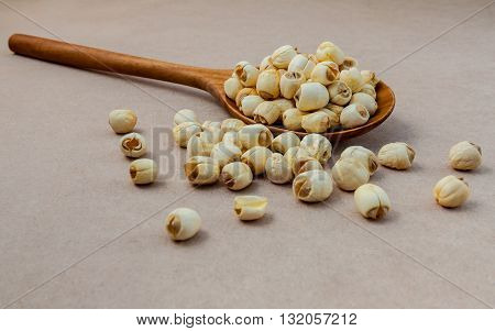 Composition Of Raw Lotus Seeds .the Asian Popular Seed For Food ,desserts And Herbal Medicine In Woo