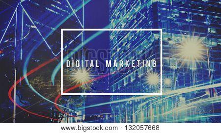 Digital Trends Marketing Social Network Branding Commercial Concept