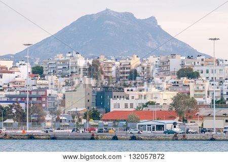 Quay in the sea port of Heraklion.