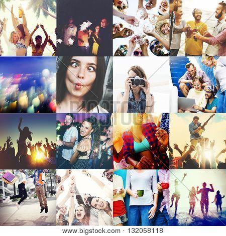 Friends Fellowship Enjoyment Satisfaction Social Concept