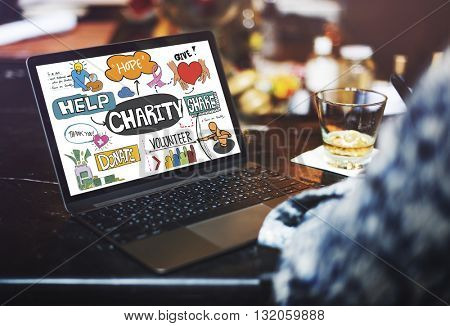 Give Charity Donation Graphic Concept