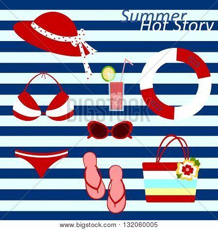 hot summer beach wear icons for women