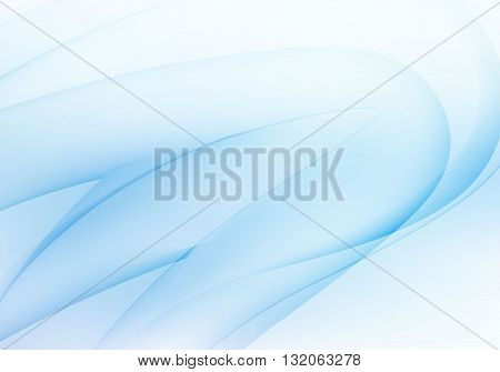 Abstract light blue wavy background. Vector illustration