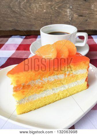 Orange Cake And Coffee