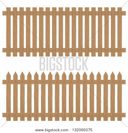 Wooden fence isolated on background. Wooden fence.