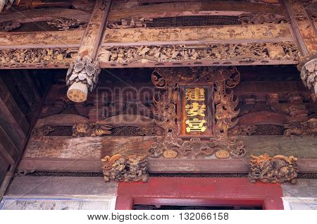 Embossing oriental carved from wood, oriental art craft
