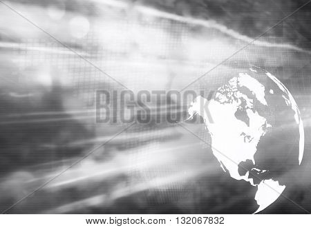 America map technology style artwork for your design