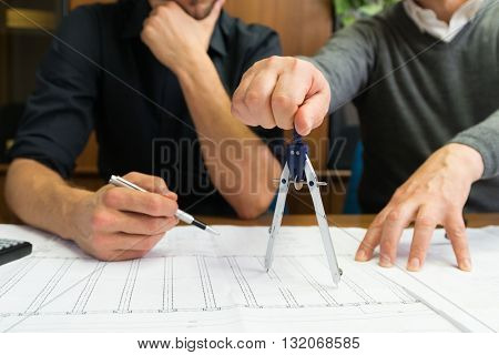 People at work in their office